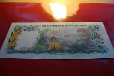 GEM BU 1974 Bahamas One Dollar  , VERY RARE T285566 serial VERY RARE & SO CRISP