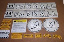 FARMALL MODEL M DECAL SET 1945-1952  McCORMICK FARMALL