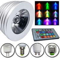 Magic RGB Ampoule E14 GU10 E27 MR16 LED 3W 16 Couleurs Chang Lampe + 24K