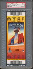 2012 Super Bowl XLVI NY Giants New England Full Ticket Red PSA 8 Manning *3184