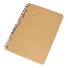 Cuaderno de 80 Hojas A5 Papel Marrón Forrado Gobernado Papel Oficina libro Memo Pad Journal
