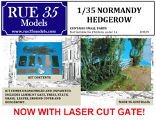 1/35 Rue35 Normandy Hedgerow with Laser cut Gate Diorama Accessory