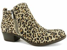 Lucky Brand Women's Basel Booties Natural Leopard Size 6 M
