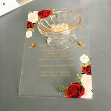 Clear Acrylic Invitation Card Elegant Vintage Flower Greeting Wedding Decoration