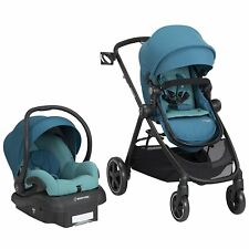 Maxi Cosi Zelia Travel System Emerald Tide , Stroller & Mico 30 Car Seat New!!