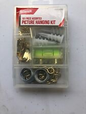 101 Pc. Homemate Picture Hanging Kit- Hanger Wire Eyes Nails Screws New