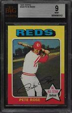 1975 Topps Pete Rose #320 BVG 9 MINT Beautiful Cincinnati Reds