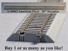 """Lionel American Flyer FasTrack 30"""" Inch Straight Track S Gauge AF 2 Rail 6-49862"""