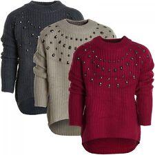 Markenlose Mädchen-Pullover mit Rollkragen