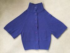 Ladies Women's Size 8/36 Midnight Blue Atmosphere Warm Cardigan Buttoned Jumper