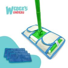 Set Of 2 Prime Mop Pads - Washable - Reusable - Durable - Works With Swiffer