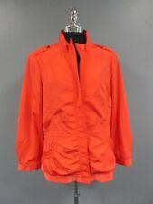 ST. JOHN Orange Long Sleeves Full Zip Solid Causal Jacket Coat Sz 14 DD3020