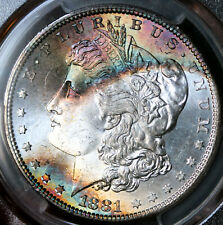 1881-S Morgan Silver Dollar PCGS MS67 CAC Gorgeous Toning