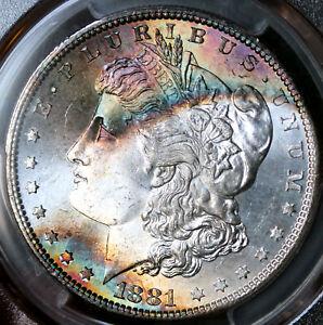 1881-S Morgan Silver Dollar PCGS MS67 CAC Gorgeous Toning