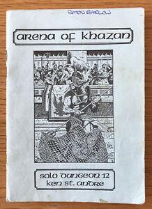 Tunnels & Trolls Arena Of Khazan 1st Print Solo Dungeon #12 Flying Buffalo RARE