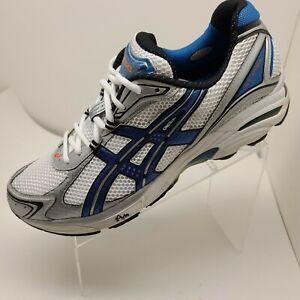 Asics Gel Gt-2130 TN805 Men's Running White Blue Shoe Size 13 2E EUC