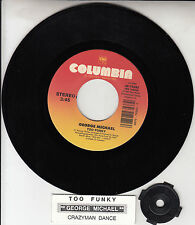 "GEORGE MICHAEL  Too Funky 7"" 45 rpm vinyl record + juke box title strip RARE!"