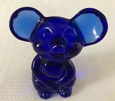 FENTON Art Glass Cobalt Blue Mouse for NFGS 2002