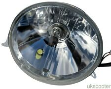 VESPA COMPLETE HEADLIGHT HIGH QUALITY HALOGEN WITH LED SIDE LIGHT PX/P/LML/T5