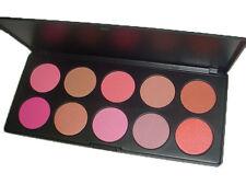 10 Colores Maquillaje Paleta de Blush Bronceador En Polvo Cosméticos Belleza