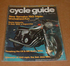 8/1976 Cycle Guide Magazine   Yamaha 750