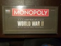 Monopoly World War II - Hasbro complete Board Game Pre-owned. Complete no manual