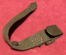 More details for a very clean ww2 german gas mask tin belt strap and hook - hard to find item