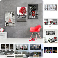 Modern City Sky View 3 Pcs Canvas Home Decor Wall Art Poster Painting Picture
