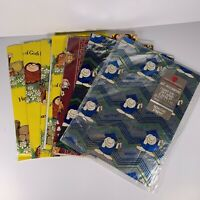 Lot Adorable Vintage Gift Wrap Garfield Odie Sherman On The Mount Ziggy
