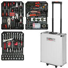 377 pièces Mallette à outils trolley valise boite à tire caisse aluminium chrome