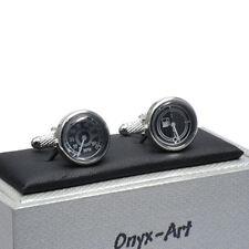 Speedometer / Fuel gauge Cufflinks Cuff Links by Onyx-Art New CK85