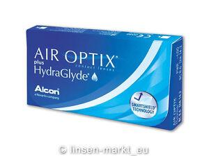 Air Optix Plus HydraGlyde 1x6 Stück - Alcon Monatslinsen