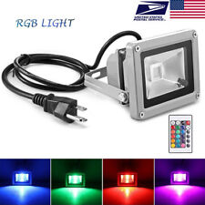 RGB LED Floodlight 10W Outdoor Garden Waterproof Lamp Color Changing Remote