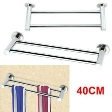 40cm Double Towel Rail Rack Holder Wall Mounted Bathroom Kitchen Stainless steel