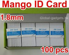 100pcs 125KHz Mango RFID Card EM4100 TK4100 Proximity Card 1.5mm Thickness BEST