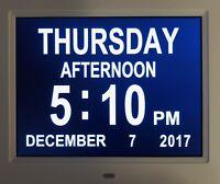 Memory Loss Digital Calendar Day Full Month Great Impaired Vision