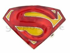 Superman Red/Yellow 3D Logo DC Comics Metal Fashion Belt Buckle