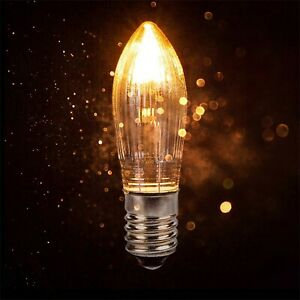 10X E10 LED replacement bulbs top candle for fairy lights lamp 8V-55V AC