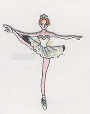 """3.75"""" Silver Ballet Ballerina embroidery applique patch"""