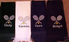 """Tennis Towel - 11 GREAT COLORS, Personalized - 11""""x18"""""""
