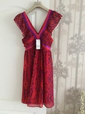 Next Beautiful Party Dress in Multi Red 12/40  New+Tags
