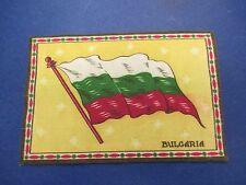 Vintage Felt Cigarette Cigar Flags, Bulgaria, White/Green/Red on Yellow, S598