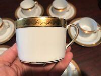 Limoges France Bernardaud Rhapsody Tea/Coffee Cups Set of 4