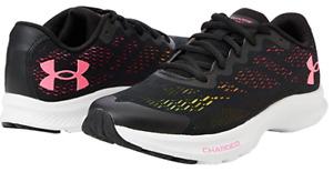 Under Armour Charged Bandit 6 Shoe Trainer, Black/White/Cerise UK 6  *FREE P&P*