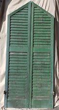 Antique Window Shutter Gothic Peak Arch Round Top Shabby Vtg Chic 66x15 219-17R