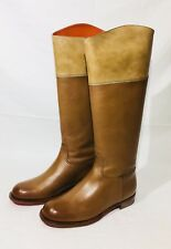 Santoni Women's Brown Leather Boots - 100% Authentic ITALIAN MADE  - USA Seller
