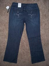 """Sz 12 FASHION BUG """"Weekend Casual"""" Womens Jeans Mid-Rise Boot Stretch Flap 34x32"""