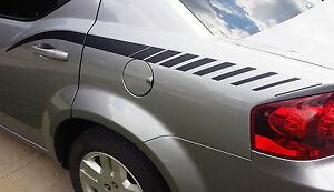 For 2008-2014 Dodge Avenger Rear Quarter Side Strobe Panel Graphics Stripes