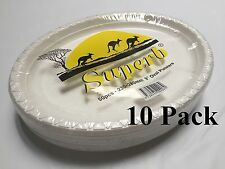 """500pcs Party Plastic Disposable White 9"""" Oval Plates 230 x 280mm 100% Brand New"""