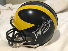 De'Veon Smith Signed Official University Of Michigan Mini Helmet Top Prospect